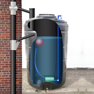 a great example of a rainwater harvesting system