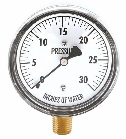 use a pressure gauge to regulate flow